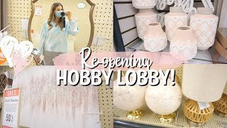 HOBBY LOBBY REOPENING | SHOP WITH ME | NEW HOME DECOR FINDS!