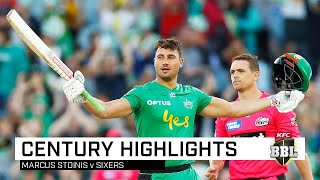 Marcus Stoinis was absolutely sublime against the Sydney Sixers at the MCG, where he smashed 147 not out from 79 balls with 13 fours and eight sixes