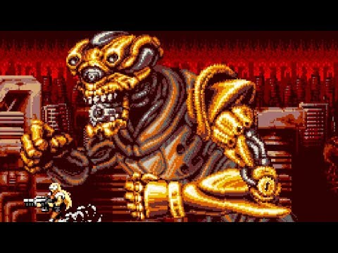 Blazing Chrome (Contra-like) All Bosses (No Damage)