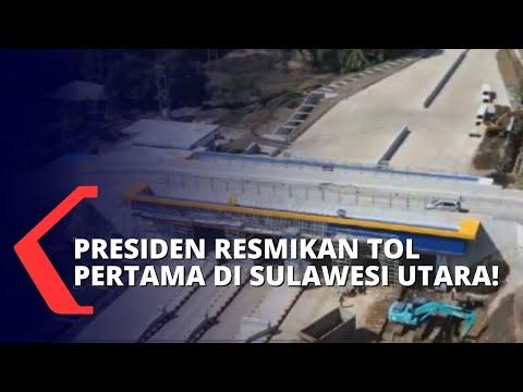 presiden jokowi sebut tol manado - bitung akan tekan biaya distribusi logistik