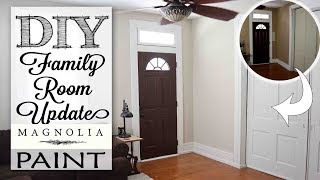 DIY Family Room Update | Magnolia Paint Review