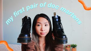 UNBOXING DR.MARTENS & A CUTE TRY ON
