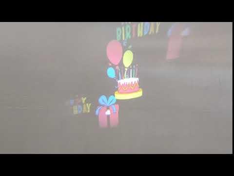 Veli Line Projektor - Fødselsdags motiv