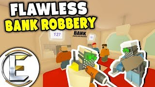Flawless Bank Robbery - Unturned Roleplay (Master Plan, Sneak In Rob The Money And Get Out)