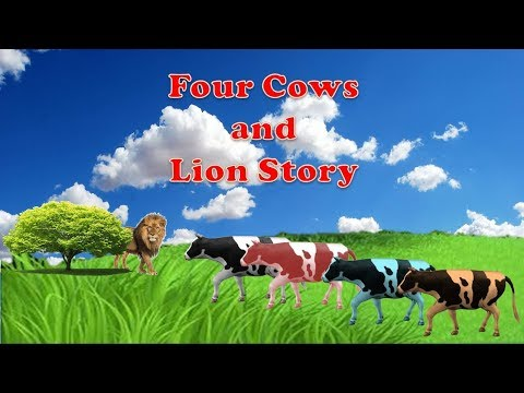 four cows and lion story, Education