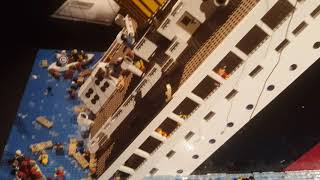 Sinking Titanic made of Lego at Brickman Wonders of the World, Auckland-Video2