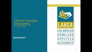 CES for Families Onboarding (Afternoon S...