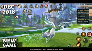 Novoland The Castle In The Sky Gameplay OPEN WORLD MMORPG AndroidIOS