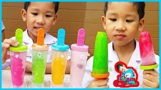 Learn color with ice cream เรียนรู้สีทำไอติมสี่สหายกับน้องบีม