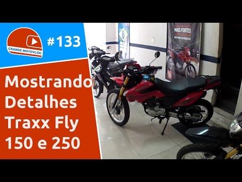 Motovlog 133 - Mostrando os Detalhes da Traxx Fly 150 e 250