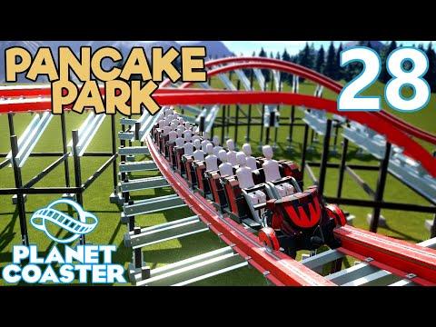 Planet Coaster PANCAKE PARK - Part 28 - PART WOOD PART NOT WOOD