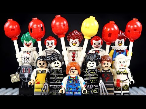 LEGO Creepy Clown IT Pennywise Chucky Leatherface Horror Movies Unofficial Minifigures