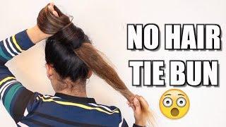 3 NO Hair Tie Buns For Long Hair | Hair Bun Tutorial