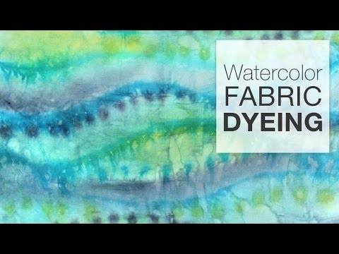 Painting Fabric with Dye