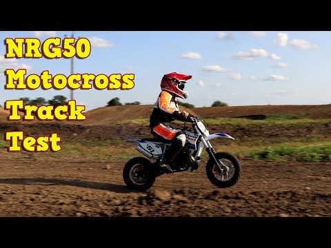 NRG50 Dirt Bike - Test on The Motocross Track