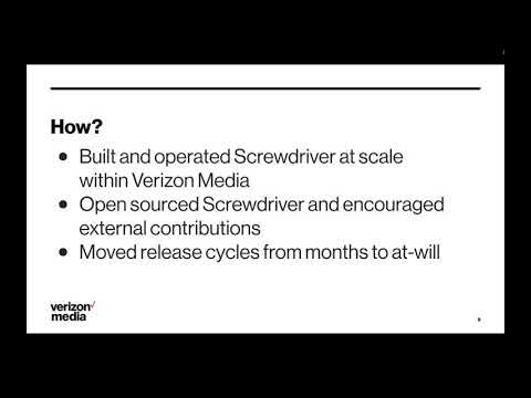 From Zero to 2.7 Million - How Verizon Media Embraced Open Source to Accelerate Release Velocity Related YouTube Video