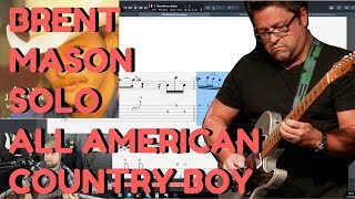 "Brent Mason Country Guitar Solo On Alan Jackson ""All American Country Boy"" - Levi Clay Transcribes"