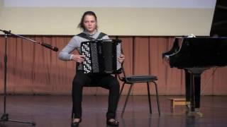 А.Фоссен Карусель исполняет Полина Гудилова баян 12 лет