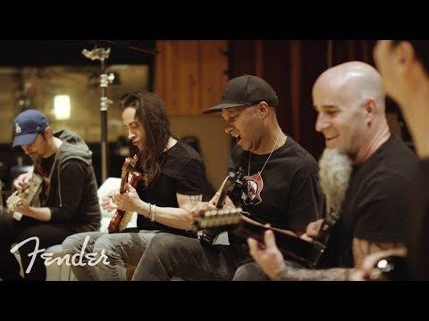 A bunch of guitar legends having fun with the Game of Thrones theme song.