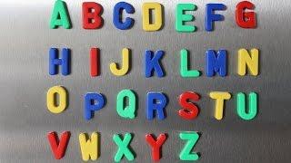 ABC Lied für Kinder und Kleinkinder zum lernen und mitsingen aus Magnetbuchstaben (deutsch)