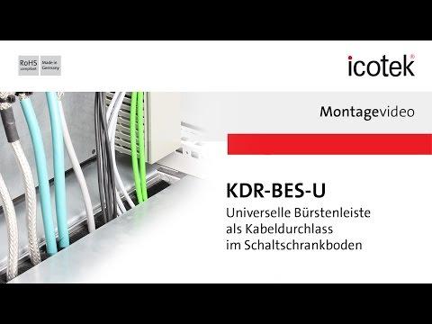 Kabeldurchlass mit Bürstenleiste KDR-BES-U | Montage | icotek