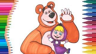 ماشا و الدب   - صفحة التلوين - الأيادي الصغيرة