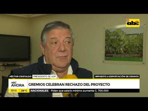Gremios celebran el rechazo del proyecto