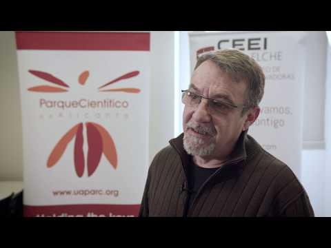 Miguel Sanchez de León, de Space Farmers SL en el HUB de Innovación Abierta[;;;][;;;]