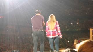 Luke Bryan Helps Girl Celebrate Her 21st Birthday