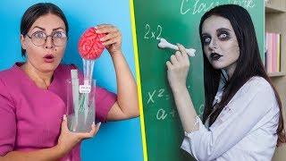 Okulda Zombiler! 12 Kendin Yap Tarzı Zombi Okul Malzemesi