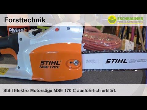 Stihl Elektro-Motorsäge MSE 170 C ausführlich erklärt