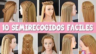 Download 10 Semirecogidos Faciles Peinados Con Trenzas