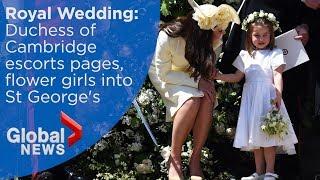 Royal Wedding: Kate Middleton and her children arrive at Windsor Castle - Video Youtube