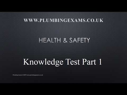 Health and safety part 1 plumbing exam knowledge test. - YouTube