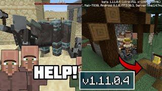 ВЫШЕЛ НОВЫЙ Minecraft Pe 1.11.0.4 - НОВЫЙ РЕЙД , ТРЕВОГА В ДЕРЕВНЕ , ПОЛНЫЙ ОБЗОР