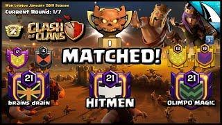 *CHAMPION I MATCHED* + LIVE 11v11 CWL War Attack | Clash of Clans