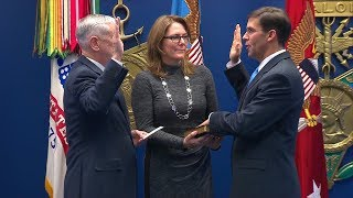 Secretary of the Army Mark T. Esper Swearing In Ceremony