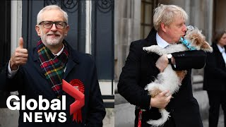 UK general election: Boris Johnson, Jeremy Corbyn cast votes at London polling stations