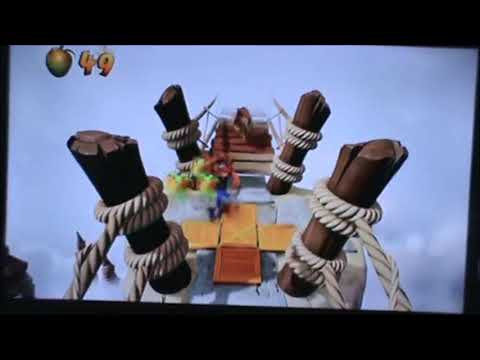 Lets Play Crash Bandicoot PART 6 SPOOKY TEMPLE AND PIG BRIDGE