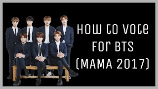 How to vote for BTS (MAMA 2017)