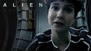 Daniels sends a video message to her father as the Covenant crew