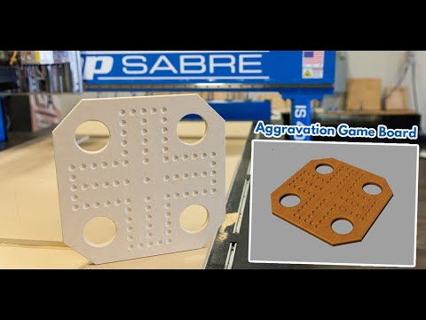 Aggravation Board Game on ShopSabre CNC Routervideo thumb