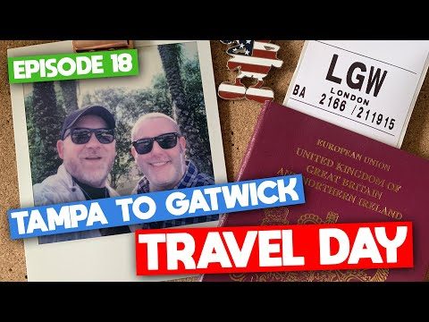 EP18 | Walt Disney World | Feb 2020 | Travel Day: Tampa to Gatwick in Premium Economy