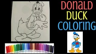 Donald Duck Coloring - Disney Speed Coloring with Markers for Kids - Color Smiles