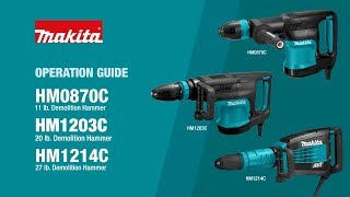 Makita Demo Hammer Operation Guide (HM1203C, HM0870C, HM1214C) - Thumbnail