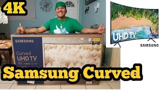 Samsung Curved 4k Smart TV 55 inch  7 Series nu7300 Unboxing