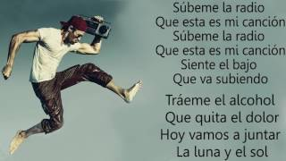 Subeme la radio lyrics