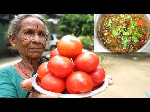 Grandma Tomato Rasam Recipe | Traditional way of Cooking in My Village | VILLAGE FOOD