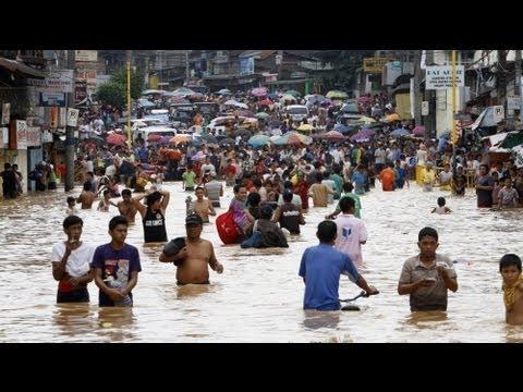 Las lluvias monzónicas castigan Manila