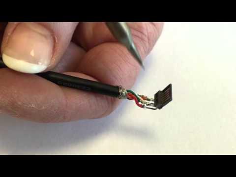 Montageanleitung-131: Mini USB Typ B-Stecker 5 polig, 5 Kontakte belegt